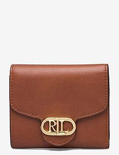 Vegan Leather Compact Wallet - porte-monnaies - lauren tan