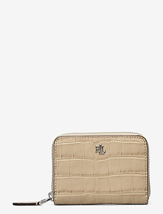 Embossed-Leather Small Zip Wallet - punge - dune tan