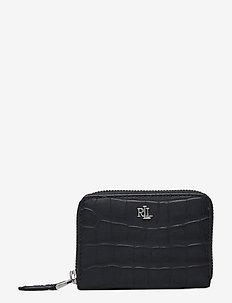 Embossed-Leather Small Zip Wallet - punge - lauren navy