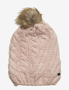 ACRYLIC-ENGINEERED CABLE HAT - DEMURE PINK