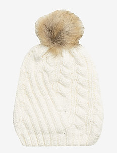 ACRYLIC-ENGINEERED CABLE HAT - IVORY