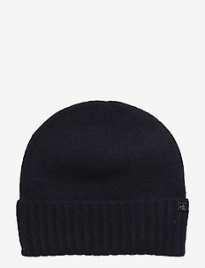 NYLON-LAUREN KNIT HAT - NAVY