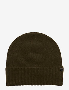 NYLON-LAUREN KNIT HAT - OLIVE