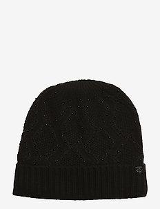 ACRYLIC-BEADEDTEXTURE HAT - BLACK