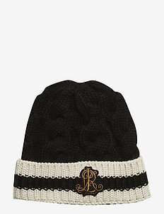ACRYLIC-CRICKET HAT - BLACK/IVORY