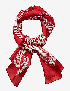 Geri Silk Twill Scarf - LIPSTICK RED