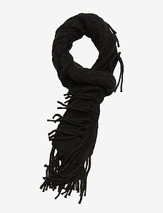 CABLE SCARF-OBLONG SCARF - sjaals - black