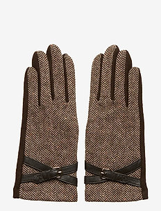 WOOL BLEND-CROSS BELT GLOVE - hansker - classic camel