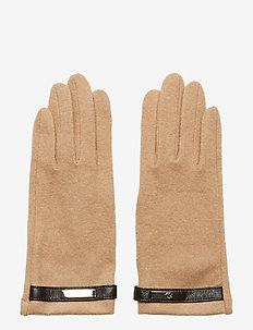 Wool-Blend Tech Gloves - CLASSIC CAMEL