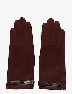 Wool-Blend Tech Gloves - OXBLOOD