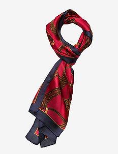 Jaqueline Silk Twill Scarf - sjalar & halsdukar - lipstick red