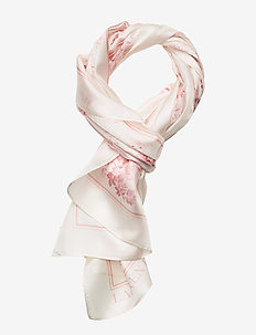 Lira Oblong Silk Twill Scarf - CREAM