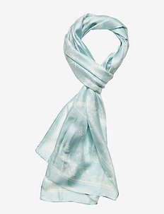 Anais Silk Oblong Scarf - PALE AQUAMARINE