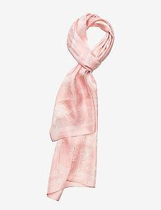 Anais Floral Silk Scarf - PINK MACAROON