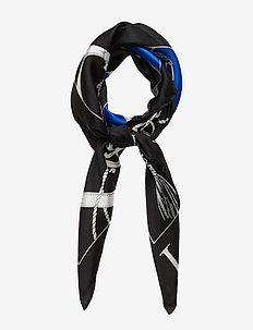 Angelina Silk Scarf - schals - black