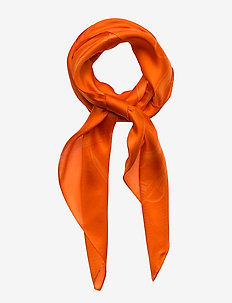 Scarlett Silk Twill Scarf - DUSK ORANGE