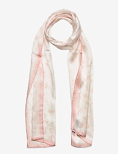 Calista Oblong Silk Twill Scarf - tørklæder - dusty pink