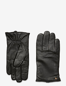 Leather-Cashmere Gloves - handschoenen - black