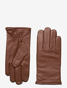 Leather-Cashmere Gloves - handschoenen - dill saddle