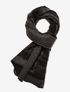 Heritage Logo Wrap - Écharpes - black/charcoal