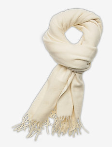 RECYCLED WOOL-RCY WOL WRAP 20 X 76 - scarves - cream