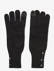 Button-Trim Tech Gloves - rękawiczki - black