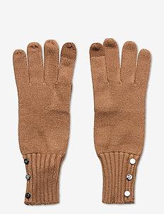 Button-Trim Tech Gloves - hansker - classic camel