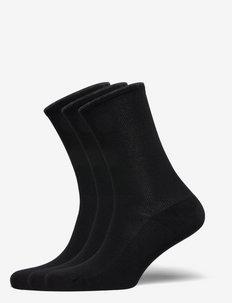 Stretch Cotton Sock 3-Pack - vanliga strumpor - black bndl