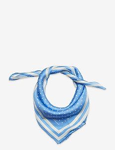 Kara Silk Twill Square Scarf - szaliki i chusty - cabana blue