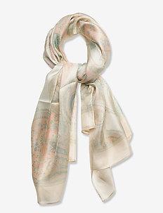 Angela Paisley Silk Twill Scarf - accessories - cream