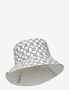 Reversible Logo Bucket Hat - bøllehatte - snow white