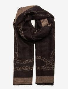 Equestrian Blanket Scarf - szaliki zimowe - black/camel