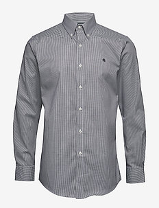 FT BD LO NK-DRESS SHIRT - 5555 NERO/OPTIC W