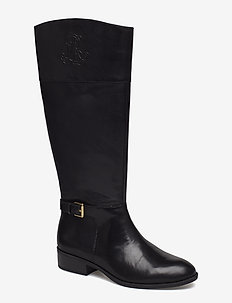 Madisen Leather Boot - BLACK/BLACK