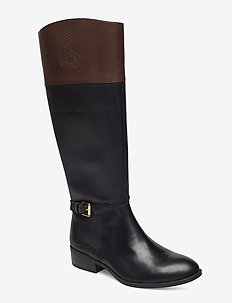 Madisen Leather Boot - BLACK/DARK BROWN