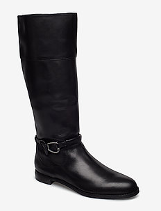 Harlee Leather Boot - BLACK