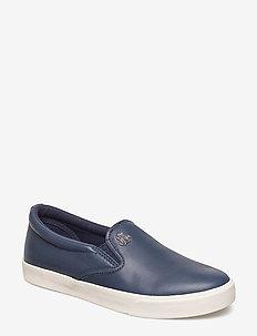 Leather Slip-On Sneaker - DARK MIDNIGHT