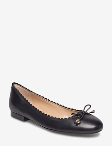 Glennie Leather Flat - BLACK