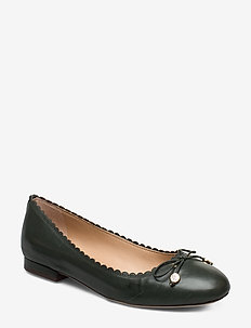 Glennie Leather Flat - RACING GREEN
