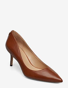 Lanette Leather Pump - classic pumps - deep saddle tan