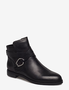 Hermione Leather Bootie - BLACK