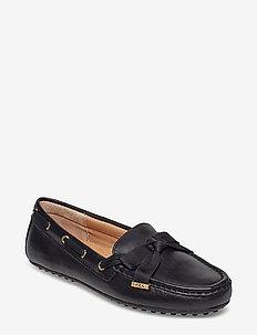 Becka Leather Loafer - BLACK