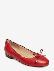 Glennie Leather Flat - RL2000 RED