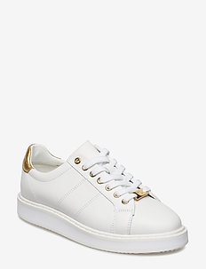 Angeline Leather Sneaker - WHITE/RLGOLD