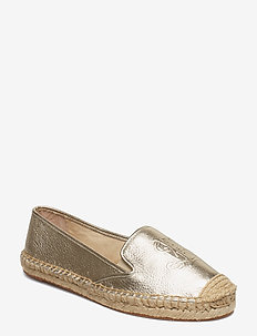 Destini Leather Espadrille - PLATINO