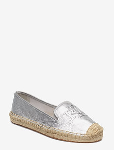 Destini Leather Espadrille - SILVER