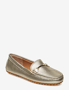 Metallic Leather Flats - PLATINO