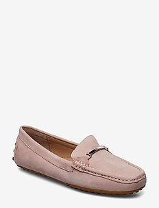 Suede Flats - PEARL PINK