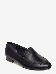 Clair Leather Smoking Slipper - BLACK/BLACK