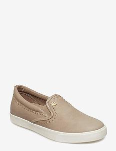Ria V Leather Sneaker - ALPACA
